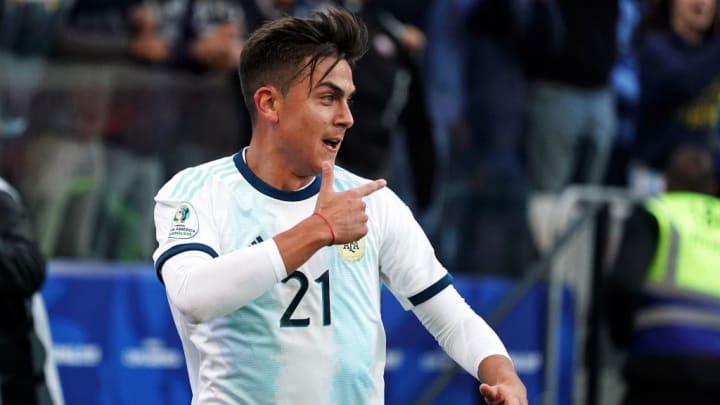 Dybala con la selección de Argentina
