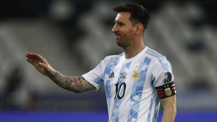 Lionel Messi scored an excellent free-kick for Argentina