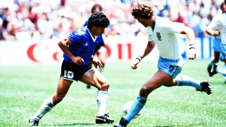 Maradona lors de sa chevauchée fantastique en 1986