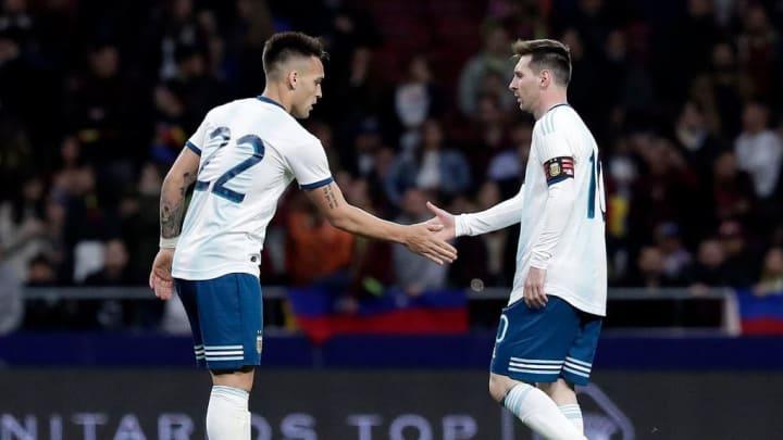 Lautaro Martinez, Lionel Messi