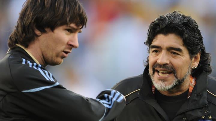 Messi entraîné par Maradona en sélection argentine