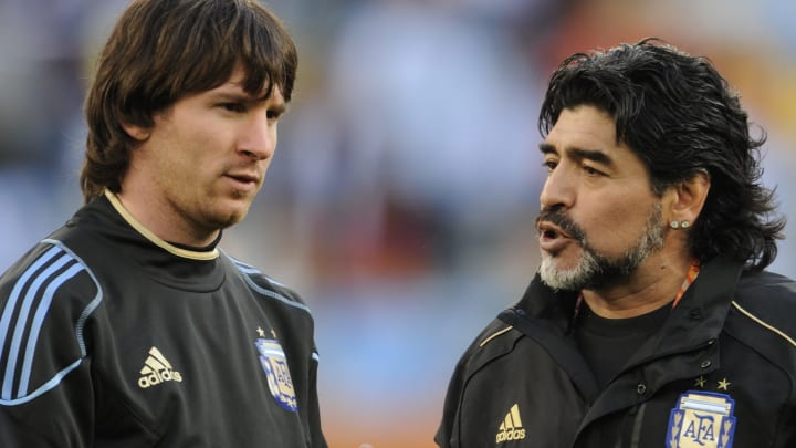 Diego Maradona and Lionel Messi played together in 2005