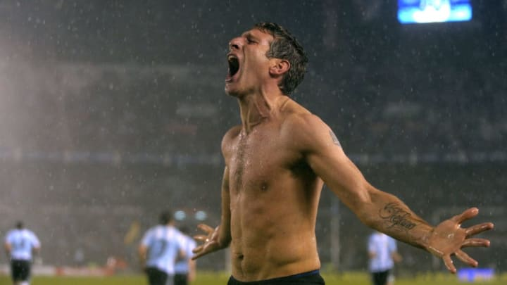 Argentina's forward Martin Palermo celeb
