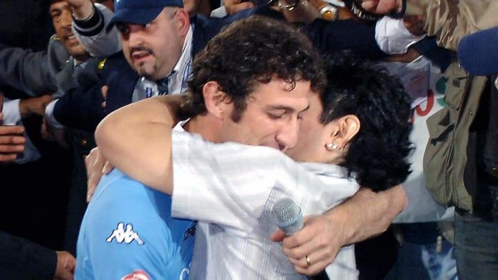 Argentine soccer star Diego Maradona emb