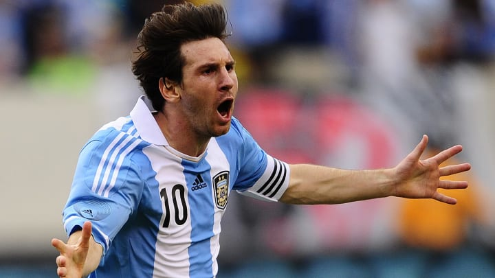 Argentinian soccer player Lionel Messi c
