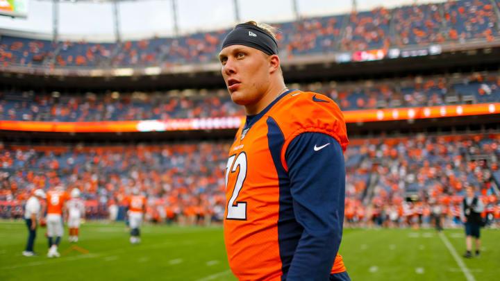 Denver Broncos left tackle Garrett Bolles