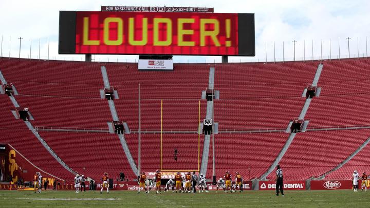 USC football at the LA Memorial Coliseum.