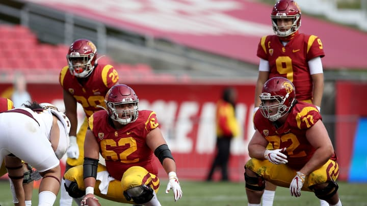 USC football offensive line.