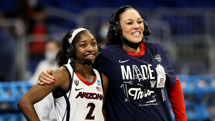 Aari McDonald and Arizona coach Adia Barnes