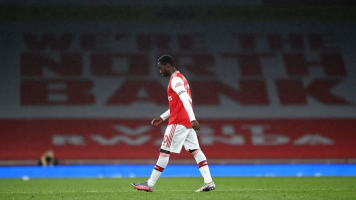 Nketiah walks off following VAR decision