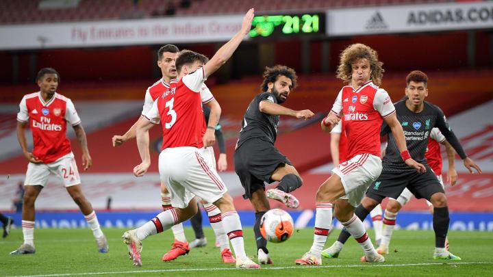 Mohamed Salah, Kieran Tierney, Granit Xhaka, David Luiz