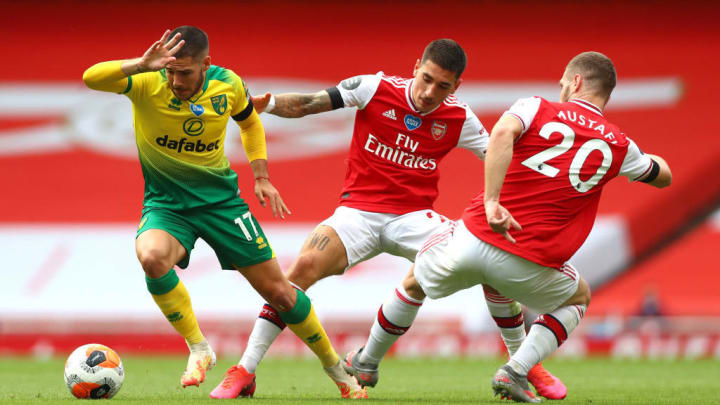 Buendia played against Arsenal for Norwich in the Premier League last season