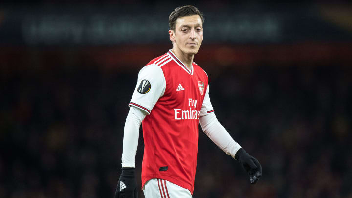 Arteta has talked down the idea of terminating Ozil's contract