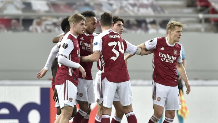 Arsenal akan menantang Slavia Praha, Jumat (8/4) dini hari WIB