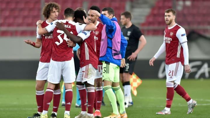 David Luiz, Granit Xhaka, Bukayo Saka, Pierre-Emerick Aubameyang, Mat Ryan