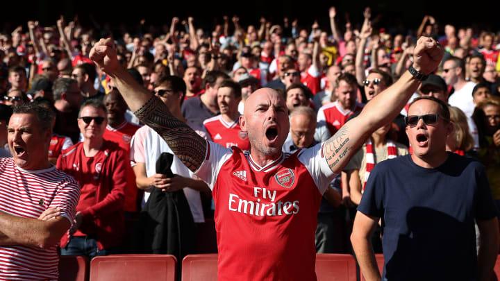 Arsenal Fans im Emirates-Stadium.