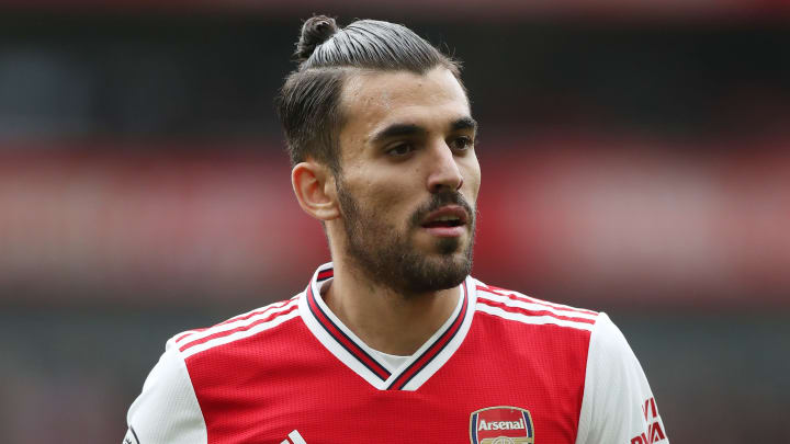 Dani Ceballos playing for Arsenal