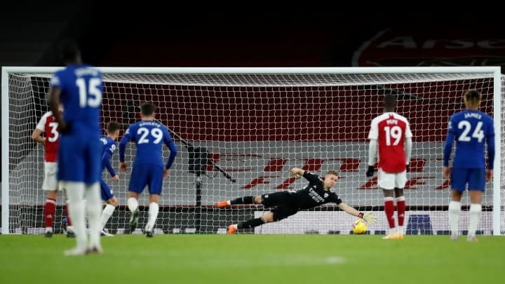 Leno's late penalty save ensured Arsenal left with a win