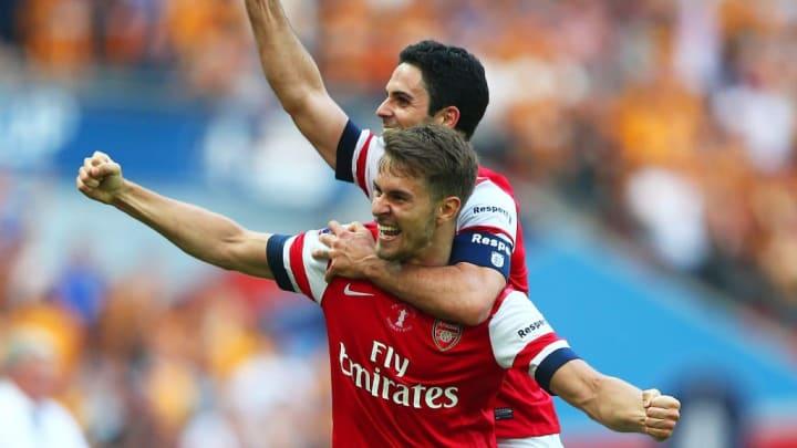 Aaron Ramsey, Mikel Arteta Arsenal FA Cup Hull City