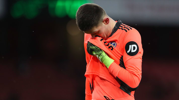 Meslier struggled during the defeat at Arsenal