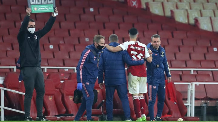 Martinelli was replaced by Nicolas Pepe on the hour mark