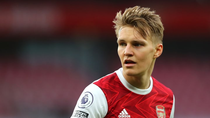 Martin Odegaard scored his second Arsenal goal in the north London derby