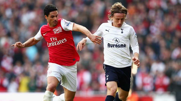 Mikel Arteta Luka Modric Premier League Tottenham Arsenal