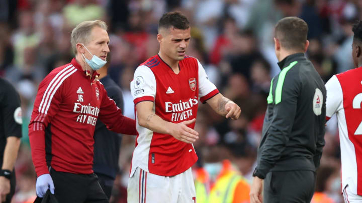 Xhaka was injured in the victory over Tottenham