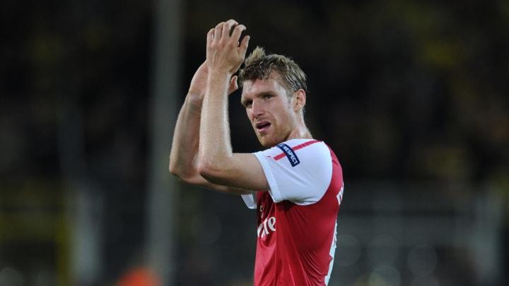 Arsenal's German defender Per Mertesacke