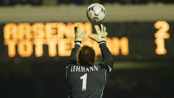 Arsenal's goal keeper Jens Lehman catche