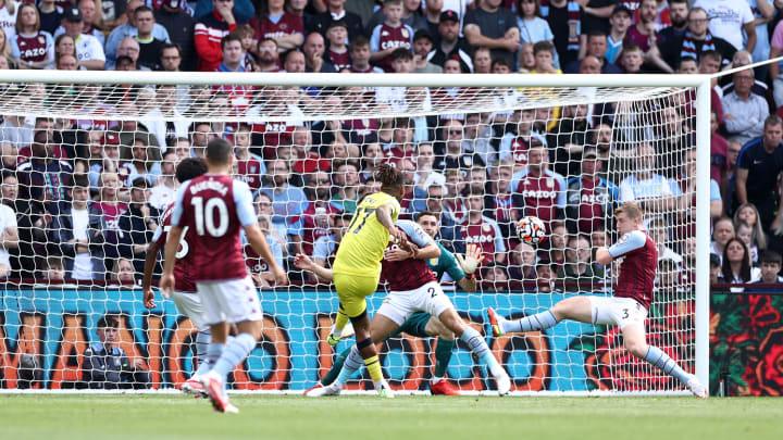 Last season's Championship top scorer netted his first Premier League goal against Aston Villa