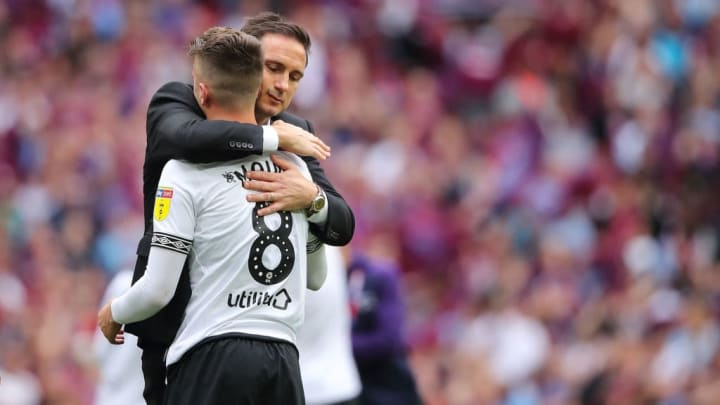 Lampard and Mount experienced defeat together for Derby in the Sky Bet Championship Play-off Final against Aston Villa.