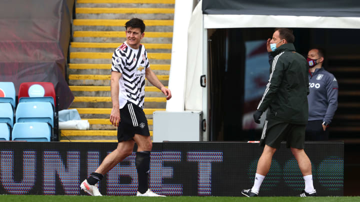 Maguire suffered an ankle injury against Aston Villa