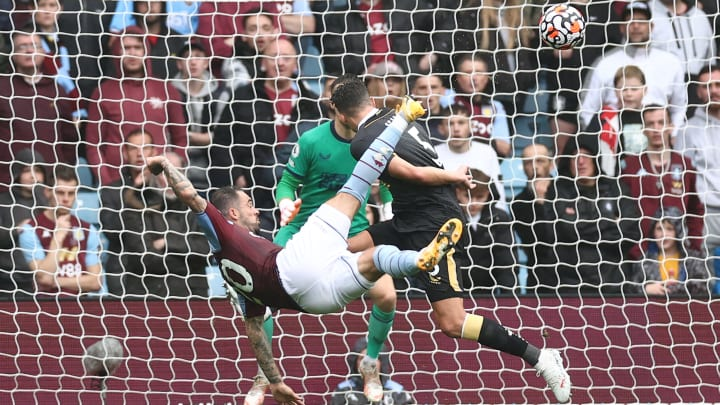 Aston Villa's Danny Ings opened the scoring against Newcastle with a blistering volley on the cusp of half-time.