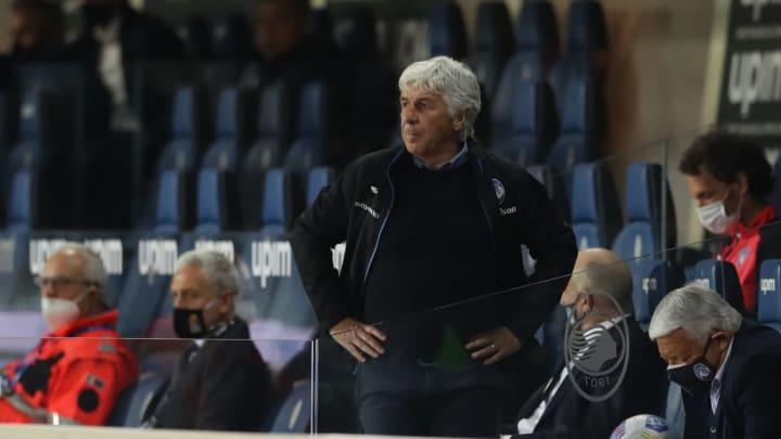 Gian Piero Gasperini during Atalanta's clash with Bologna
