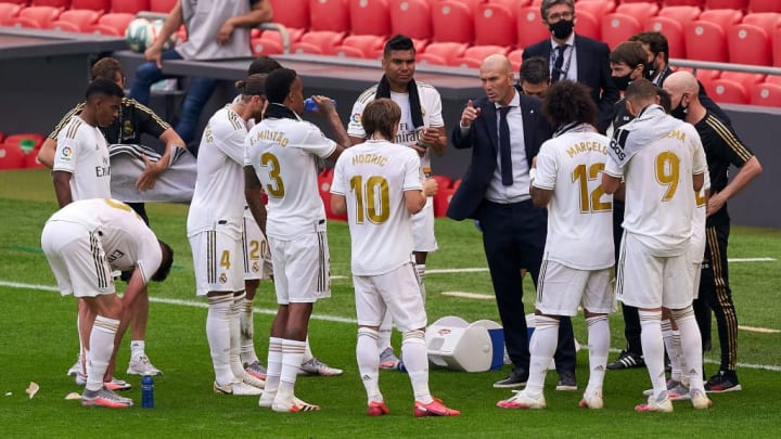 Zinedine Zidane, Manager of Real Madrid, Luka Modric