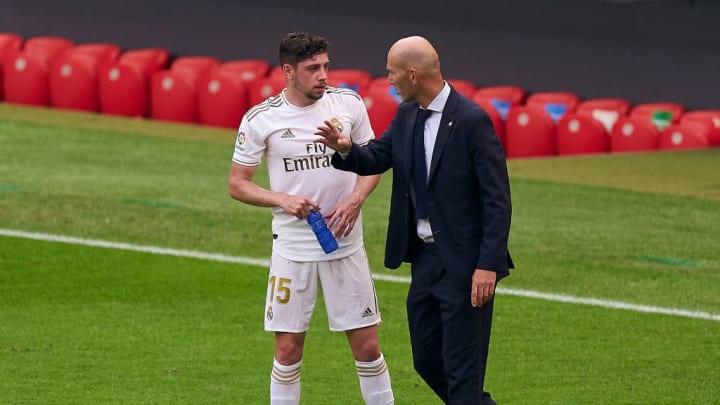 Zinedine Zidane, Manager of Real Madrid, Federico Valverde