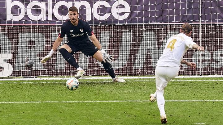 Unai Simon, Sergio Ramos