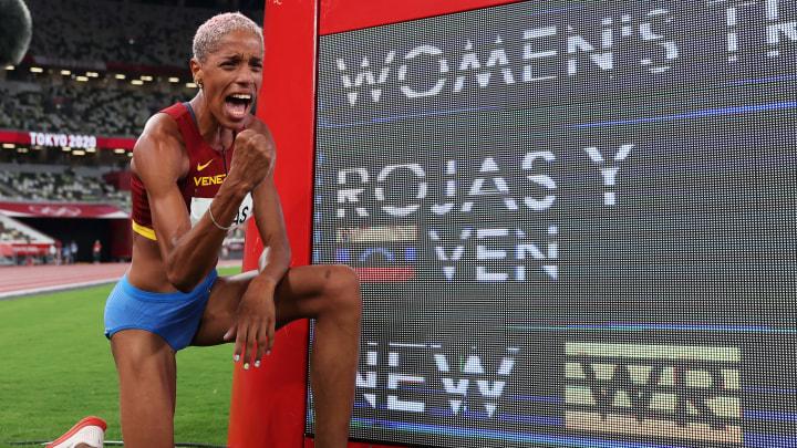 Yulimar Rojas estableció un nuevo récord mundial en triple salto