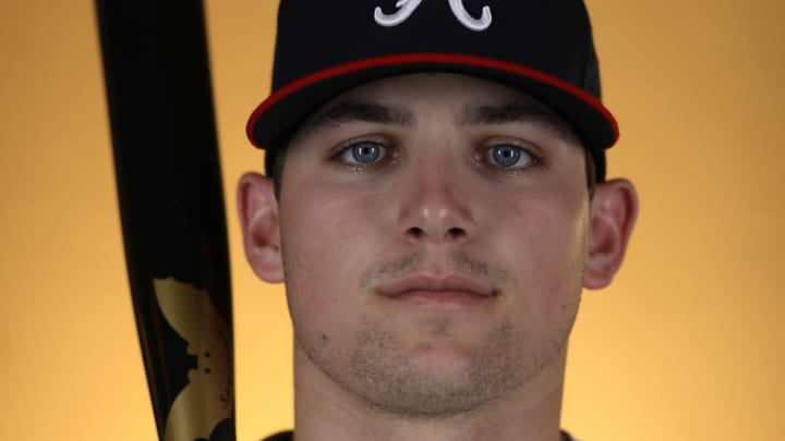 LAKE BUENA VISTA, FL - FEBRUARY 22: Austin Riley #83 of the Atlanta Braves poses for a photo during photo days at Champion Stadium on February 22, 2018 in Lake Buena Vista, Florida (Photo by Rob Carr/Getty Images)