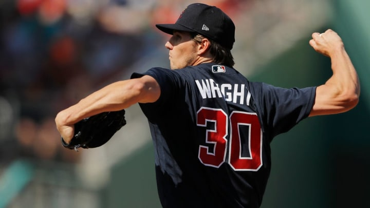 Atlanta Braves pitcher Kyle Wright is a top pitcher prospect in the organization.