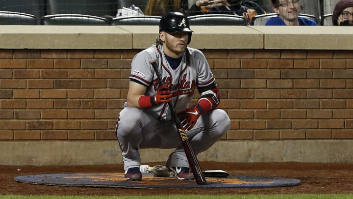 Josh Donaldson waiting on deck against the New York Mets