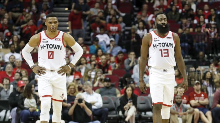 Russell Westbrook and James Harden.