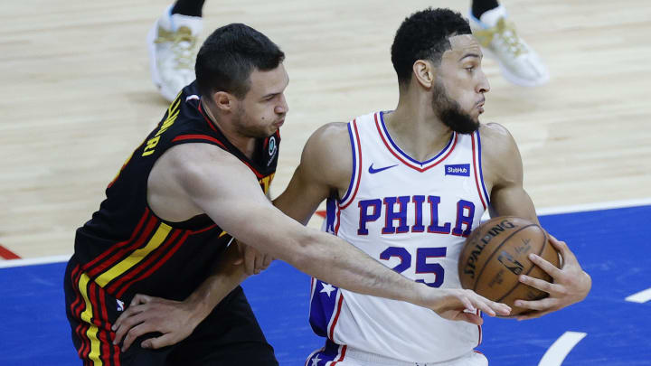Ben Simmons leaving the defender, but not his problems, behind.
