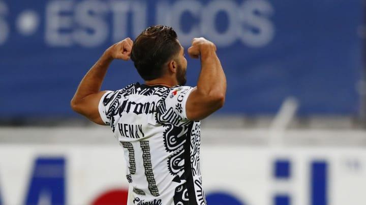 Las Águilas del América ya ganan su partido frente al Atlas con un penal de época entre Sebastian Córdova y Henry Martín
