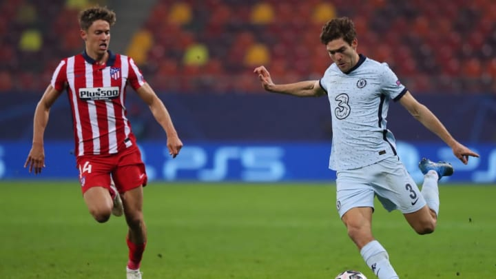 Marcos Alonso against Atletico Madrid