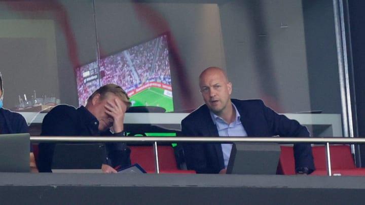 Koeman musste die Niederlage gegen Atletico Madrid von der Tribüne beobachten