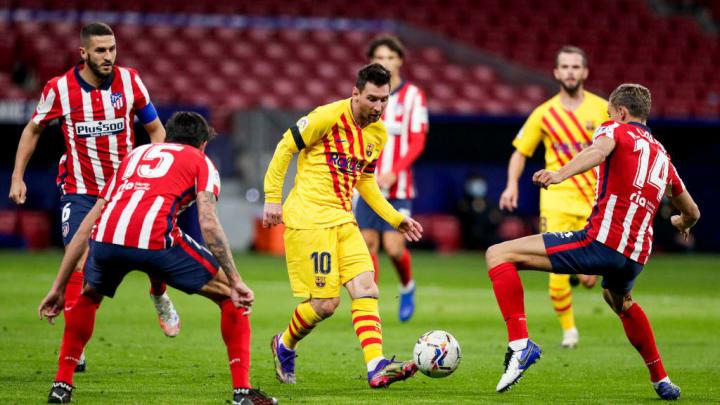 Lionel Messi, Marcos Llorente, Stefan Savic