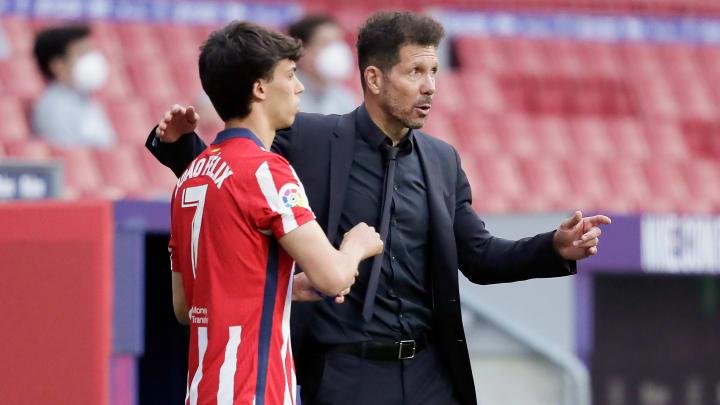 Diego Simeone apprécie le rendement de Joao Felix.