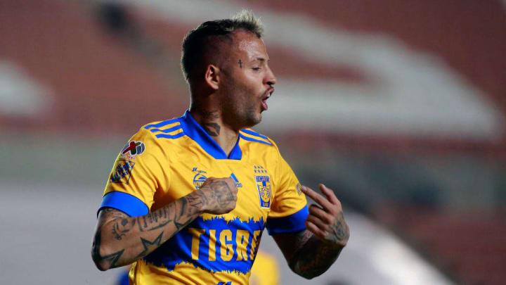 El uruguayo Nico López, de los Tigres, se destapó con un doblete frente al Atlético San Luis.
